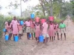 Children Transport Water During Pump Failure